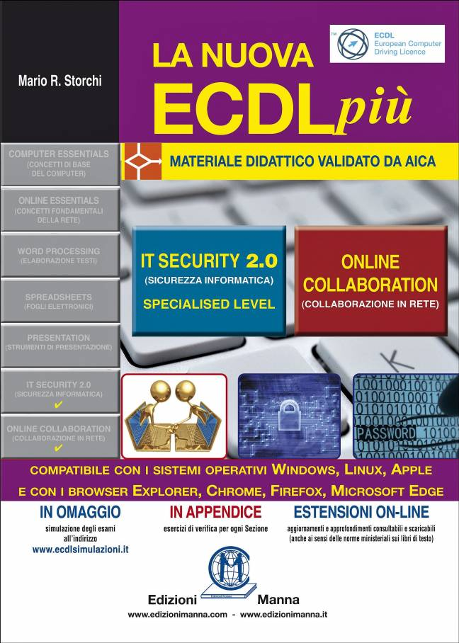 "copertina volume ""ECDL+ IT Security 2.0 & Online Collaboration"""